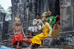 Performers, Angkor Thom (silkylemur) Tags: canon lens temple ruins asia cambodia southeastasia angkorwat vietnam temples fullframe siemreap angkor canoneos angkorthom zoomlens llens 24105mm canonef canonef24105mmf4l canonef24105mmf4lisusm  eflens canonef24105mmf4lisusmlens efmount canoneos6d krongsiemreap