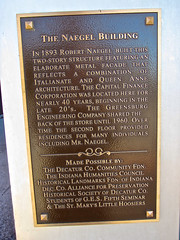 Naegel Building, Greensburg, IN (Robby Virus) Tags: building architecture plaque indiana historic company printing greensburg marker inc italianate naegel