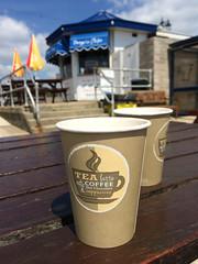 Tea in the Sun (Jainbow) Tags: car beach seafront southsea portsmouth cups tea picnic table jainbow