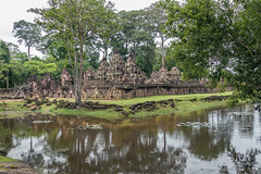 Reflected Banteay Srei (tmeallen) Tags: trees wall cambodia small reflected exquisite shiva moat hindutemple banteaysrei carvedstone redsandstone 10thcentury innerenclosure pavilionofthewomen