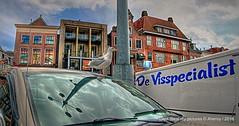 Grote Markt,Groningen stad ,the Netherlands,Europe (Aheroy(2Busy)) Tags: groningenstad groningen aheroy aheroyal zeemeeuw seagull grotemarkt vogel bird car tonemapped