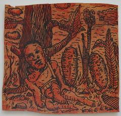 Figura in un paesaggio con durian (Enrico Luigi Delponte) Tags: art arte kunst cork drawings disegni dessins sughero