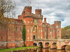 A Tudor gem! (Digidoc2) Tags: uk bridge trees sky brick castle water grass architecture clouds reflections kent eastsussex 15thcentury herstmonceux moated
