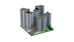 Section DownTown Edge 2 (RedRoofArt) Tags: lego moc mini pica pico micro city building flat architecture