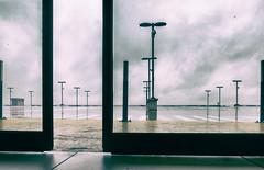 l'écart d'ozon (johann walter bantz) Tags: lumixlx100 parking centre commercial imaginaire portail door creative color artwork critique clouds origina france europe