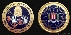 FBI Crimes Against Children Challenge Coin (Nate_892) Tags: against children coin bureau police sheriff cac federal challenge fbi crimes investigation icac