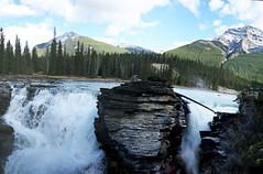 Jasper National Park, Alberta, Canada - ICE(1)6634-55 (photos by Bob V) Tags: park panorama mountains rockies waterfall falls alberta albertacanada jaspernationalpark canadianrockies jasperpark mountainpanorama