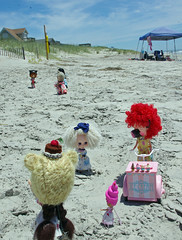 6. And they came from far and wide..... (blythe stole my heart) Tags: bike pig zombie scooter blythe custom outerbanks emeraldisle misfits blyth adg bl beachvacation imreal blythephotos vegaicecream