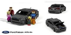 Ford Australia FG X Falcon XR6 (2014 - 2016) (lego911) Tags: ford falcon fgx fg x 2014 2015 2016 2010s australia broadmeadows geelong aussie six xr6 turbo auto car moc model miniland lego lego911 ldd render cad povray final