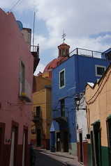Guanajuato, Gto, Mexico (Holzner Photography) Tags: world life road old city trip blue friends vacation white mountains green heritage yellow mexico town colorful downtown day village cloudy weekend dream culture lifestyle center unesco rainy latin guanajuato tradition inthemiddleofnowhere phopetorus