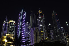 The view from the Westin hotel Dubai (Joe Panter) Tags: westinhotelthepalmdubai fivestarhotel burjkhalifa architecture dubai uae burj kalifa highest building skyscrapers lights night nightime sunset cityscape city amazing high joepanter canon7dmkii canon