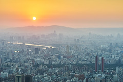 Taipei Sunset (yiming1218) Tags: city sunset macro landscape cityscape g sony taiwan  taipei fe    90mm 90 f28  oss a7ii a7m2 ilce7m2