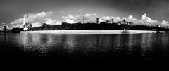 () Tags: city bw white black landscape lights panoramic