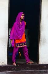 The Look (1) (Mahmoud R Maheri) Tags: house girl looking fort doorway srilanka galle moslemgirl