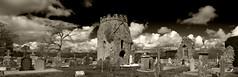 Irish cemetery (svg74) Tags: cemetery cementerio celta celtic cloud cielo sky ireland irlanda nubes paisaje panormica blancoynegro bw sepia eire
