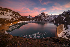 Griessee Sunset (cfaobam) Tags: griessee griesgletscher schweiz wasser stein stone landscape landschaft europe europa nature national geographic cfaobam water travel photography magic light rock steine felsen cfaobamhome outdoor felsformation ufer berg mountains alpen globetrotter
