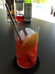 Aperitif (Joy Napolitano via Gaz Regan) with Campari, Dolin dry vermouth, St. Germain elderflower liqueur #cocktails #cocktail #craftcocktails #campari #stgermain #101bestnewcocktails (*FrogPrincesse*) Tags: cocktails cocktail craftcocktails campari stgermain 101bestnewcocktails
