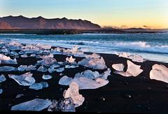 Morning, Jökulsárlón Black Beach, Iceland (klauslang99) Tags: klauslang naturalworld nature europe iceland beach ice morning jokulsarlon