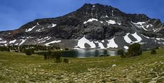Alger Lake and Blacktop Peak (speedcenter2001) Tags: california sierranevada sierra highsierra mountains anseladamswilderness hiking backpacking backcountry adventure panorama stitch