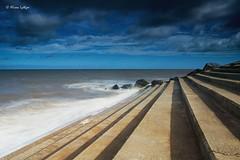 Dead End (Ali Ly) Tags: beach clouds d810 day groyne heacham nikon norfolk outdoor rocks sand sea sigma24mmart sky sunrise weather