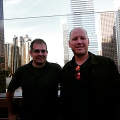Talking BC politics and #opengov and enjoying the weather with @pollockdan in Los Angeles! #dtla