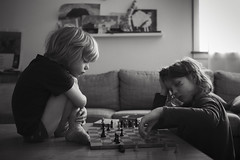 Sundays (Dalla*) Tags: portrait white playing black home boys kids play brothers chess learning teaching skák wwwdallais