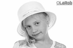 Lara (LaR0b) Tags: portrait bw white black monochrome studio mono blackwhite highkey portret monochroom