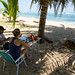 Acampamento na Praia Punta Uva