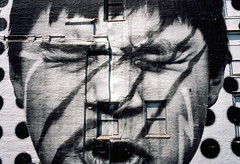 Street art by JR (RoryO'Bryen) Tags: face newyork roryobryen rangefinder copyrightroryobryen street highline film leicam6 28mm nuevayork httpwwwjrartnetfr