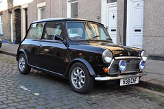 H38 CNF, a black Mini Thirty. (Raymondo166) Tags: street black classic up 30 anniversary no plate mini parked 1989 30th limited edition reg carlisle registration produced 1959 thirty thirtieth commemorate cnf h38