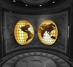 The World (travelingnorthagency) Tags: cruise globe map cruiseship travelagency princesscruises travelagent crownprincess 2015 shipinspection travelingnorth travelingnorthagency