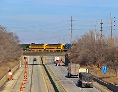 KB&S and V V F's at I-57 in Kankakee, IL (Jesse B - IL) Tags: railroad rr v f valley vermilion f9 unit f7 ibcx vvrr