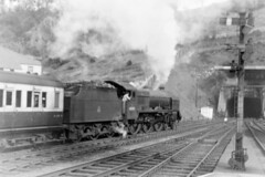 DAD 538 080554 45501 Bangor (The KDH archive) Tags: bangor railway 1954 patriot 45501