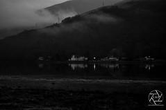 Misty Loch (Lewis Brown Photography) Tags: house mist water monochrome photoshop photography grey mono scotland nikon loch bnw lightroom picoftheday lochlong monochromerocks