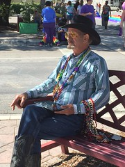 A cowboy sitting pretty (LarryJay99 ) Tags: street b gay hairy man male men guy hat bench goatee boots masculine manly oldman glbt guys dude jeans facialhair gaypride dudes stud sittingpretty studs pridefest lakeworth virile