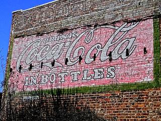 Old Brick Old Coke Sign