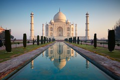 0G3B2436 - Taj Mahal at Sunrise (Eddie HBH) Tags: india reflection sunrise tajmahal agra