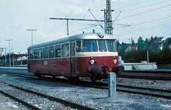 VT 21  Korntal  06.05.77 (w. + h. brutzer) Tags: analog train germany deutschland nikon eisenbahn railway zug trains vt weg eisenbahnen triebwagen triebzug korntal triebzge webru