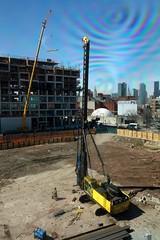 driver (nicknormal) Tags: construction crane moma queens ps1 empirestatebuilding chryslerbuilding gentrification longislandcity 5pointz piledriver