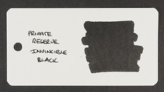 Private Reserve Invincible Black - Word Card