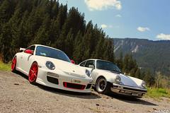 Generations (Iceman_Mark) Tags: summer white alps silver switzerland 911 turbo porsche arosa sportscar gt3 aircooled flatsix graubünden langwies