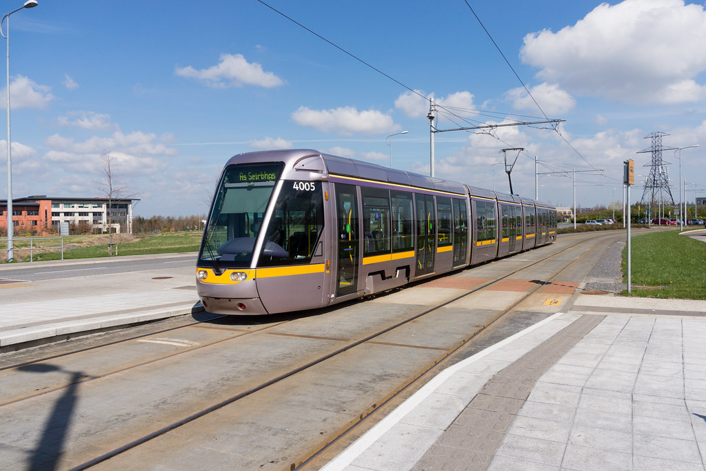 LUAS TRAM STOP IN CITYWEST [APRIL 2015] REF-103236