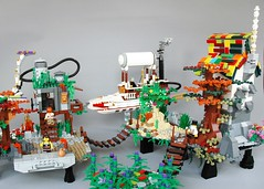 Aetheria full world (7) (adde51) Tags: island lego floating fantasy airship steampunk moc aetheria swebrick adde51