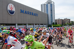 DSC_5213LR (CharlieBro) Tags: bridge bike bicycle race italia factory torre rosa headquarters ponte ciclismo bici modena sede maserati maglia gara biciclette 2016 fabbrica giroditalia tappa11