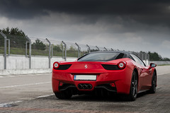 Resting. (Slav_Shot) Tags: red car spring italian nikon track italia day poland automotive super ferrari resting rosso exotics poznan 2016 458 slavshot torpoznantrackday