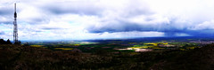 Rain Comes Down, Sun Stays Out (Alan FEO2) Tags: trees panorama sun sunlight rain clouds landscape outdoors shropshire horizon 71 fields mast showers dappled rapeseed wrekin highvantagepoint 2oef 116picturesin2016