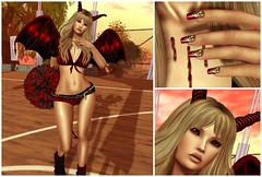 Cheerleader from Hell (eloen.maerdrym) Tags: sports blood cosmopolitan events hell goth horns mina fantasy demon devil cheerleader sales puncture genre roleplay meshhead meshbody groupgift bangposes vengefulthreads bananabanshee ~songbird~ {zoz} pumec eloensotherworld bodyartiihunt