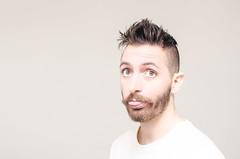 (Damien Cox) Tags: uk portrait selfportrait man male me face self ego myself beard eyes nikon masculine ears moi messyhair mustache autorretrato scruff stubble i damiencox damiencoxcouk