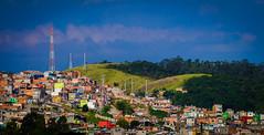 Periferias do Brasil (Favelas in Brazil) (caiodntskt) Tags: blue 2 brazil sun color brasil canon photography is day sunny sp ii sbc periferia favela favelas 55250 notsosharp 700d t5i