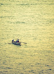 Fisherman At Work  ... The Nile  ...  From my  Office (Hazem Hafez) Tags: water boat office fishing fisherman view egypt nile cairo